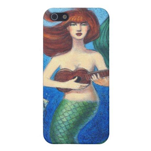 Caso del iphone 4 del arte de la fantasía, sirena  iPhone 5 fundas