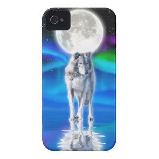 Caso del iPhone 4 del arte de la fauna del lobo, Carcasa Para iPhone 4 De Case-Mate