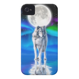 Caso del iPhone 4 del arte de la fauna del lobo, Case-Mate iPhone 4 Protector