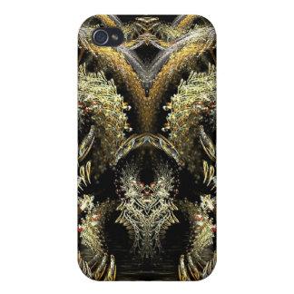 Caso del iPhone 4 del arte de Rorschach del búho d iPhone 4 Carcasa