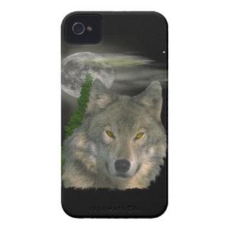 Caso del iPhone 4 del arte del lobo Case-Mate iPhone 4 Carcasa