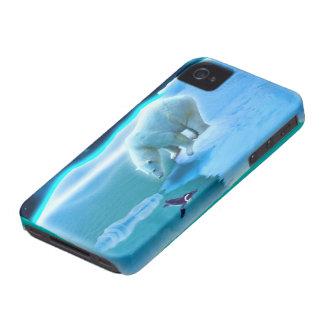 Caso del iPhone 4 del arte del oso polar del ping