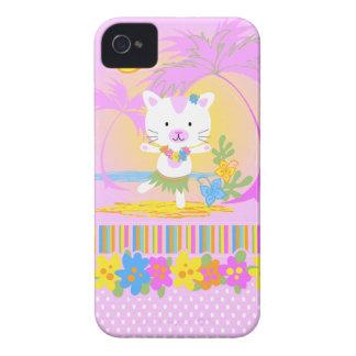 Caso del iphone 4 del baile del gato del verano Case-Mate iPhone 4 cárcasas