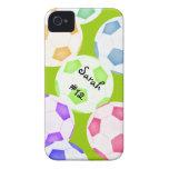 Caso del iPhone 4 del balón de fútbol Case-Mate iPhone 4 Protector