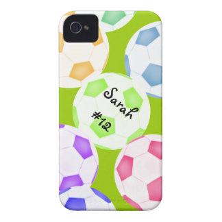 Caso del iPhone 4 del balón de fútbol iPhone 4 Case-Mate Protector