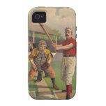 Caso del iPhone 4 del béisbol del vintage iPhone 4 Carcasa