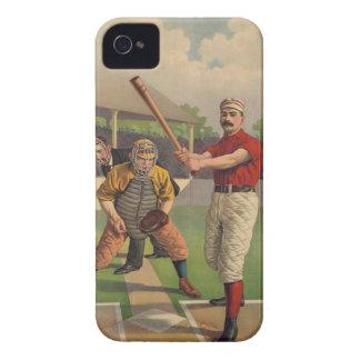 Caso del iPhone 4 del béisbol del vintage iPhone 4 Carcasas