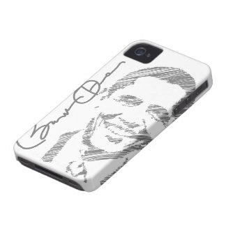 Caso del iPhone 4 del bosquejo de Barack Obama iPhone 4 Protectores