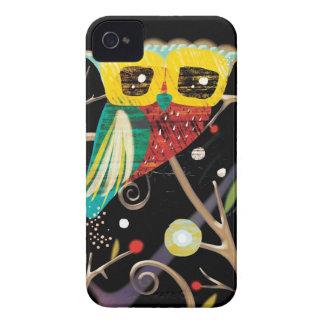 Caso del iphone 4 del búho - caso del iphone 4s Case-Mate iPhone 4 fundas