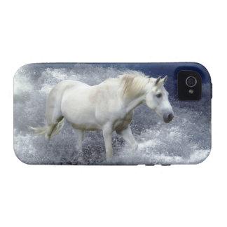 Caso del iPhone 4 del caballo blanco de la fantasí