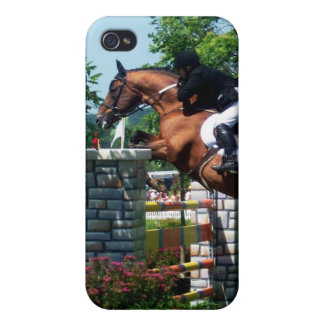 Caso del iPhone 4 del caballo de Grand Prix iPhone 4 Fundas