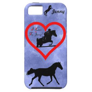 Caso del iPhone 4 del caballo del puente del cazad iPhone 5 Carcasa