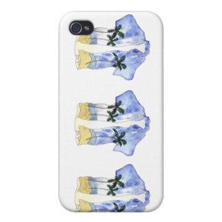 Caso del iPhone 4 del camisetas hawaiano iPhone 4 Carcasas
