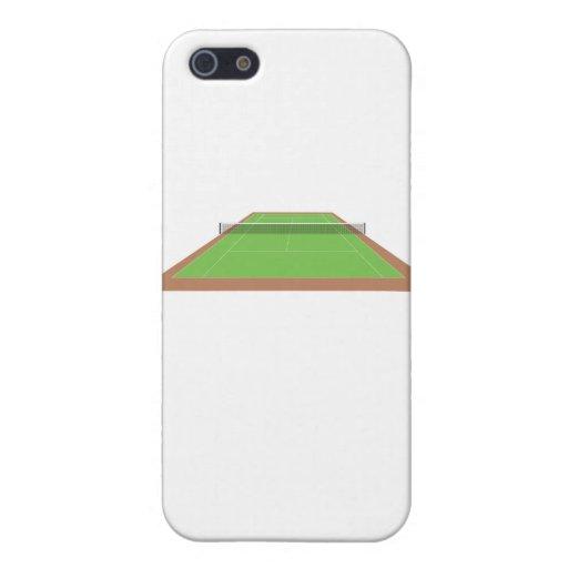 Caso del iPhone 4 del campo de tenis iPhone 5 Protectores