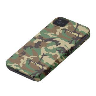 Caso del iPhone 4 del camuflaje del arbolado iPhone 4 Case-Mate Fundas