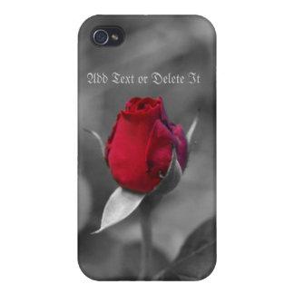 Caso del iphone 4 del capullo de rosa iPhone 4 carcasa