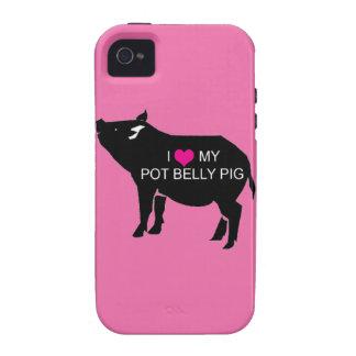 Caso del iPhone 4 del cerdo del Belly de pote iPhone 4 Fundas