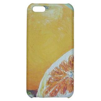 Caso del iPhone 4 del chapoteo de la fruta cítrica