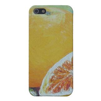 Caso del iPhone 4 del chapoteo de la fruta cítrica iPhone 5 Cárcasa