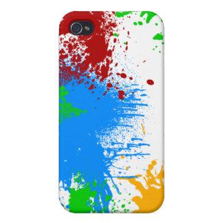Caso del iPhone 4 del chapoteo del color iPhone 4 Cárcasas