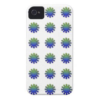 Caso del iphone 4 del chapoteo del verde azul