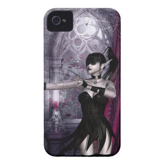 Caso del iPhone 4 del chica del gótico de iPhone 4 Case-Mate Funda