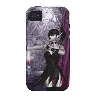 Caso del iPhone 4 del chica del gótico de iPhone 4/4S Funda