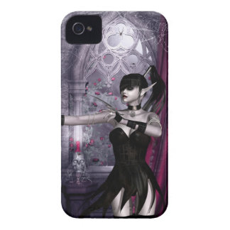 Caso del iPhone 4 del chica del gótico de Mechanik iPhone 4 Case-Mate Funda