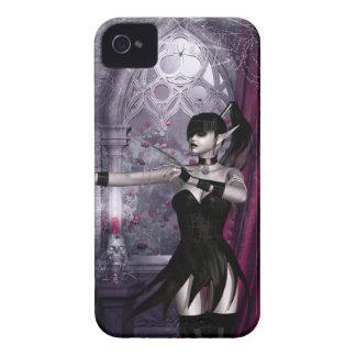 Caso del iPhone 4 del chica del gótico de Mechanik iPhone 4 Case-Mate Carcasas
