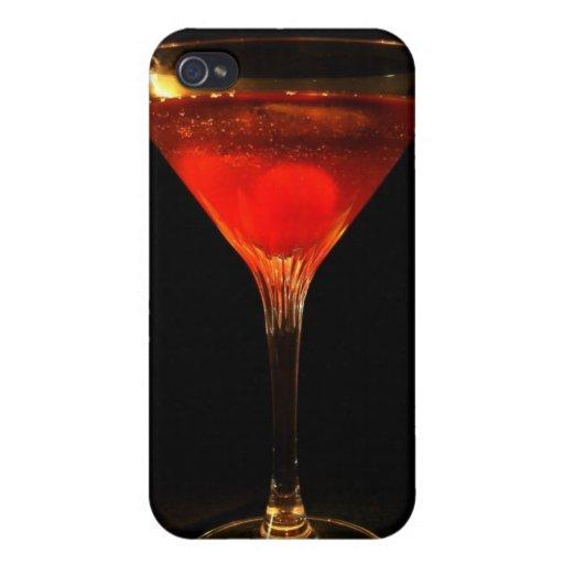 Caso del iPhone 4 del cóctel de Manhattan iPhone 4 Protectores