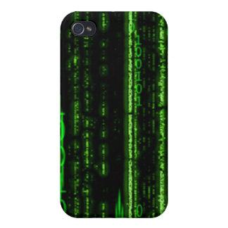 Caso del iPhone 4 del código binario iPhone 4 Funda