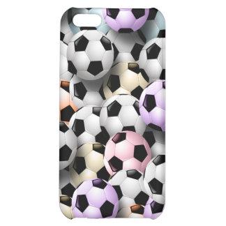 Caso del iPhone 4 del collage del balón de fútbol