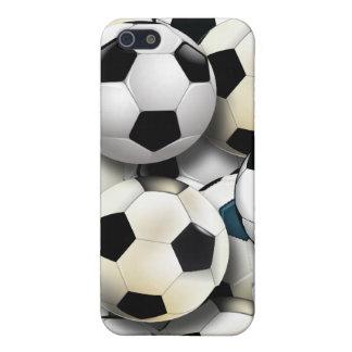 Caso del iPhone 4 del collage del balón de fútbol iPhone 5 Funda