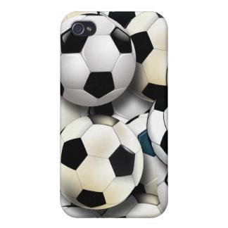 Caso del iPhone 4 del collage del balón de fútbol iPhone 4 Carcasa