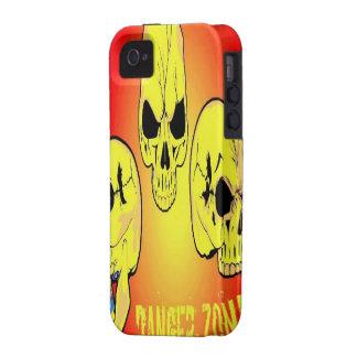 Caso del iPhone 4 del cráneo de la zona peligrosa iPhone 4 Carcasas