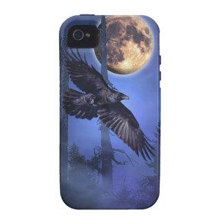 Caso del iPhone 4 del cuervo y de la luna iPhone 4/4S Fundas
