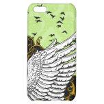Caso del iPhone 4 del damasco del ala del pájaro d