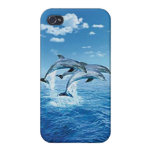 Caso del iPhone 4 del delfín del aire iPhone 4/4S Funda