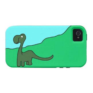 Caso del iPhone 4 del dinosaurio - caso del iPhone Vibe iPhone 4 Carcasas
