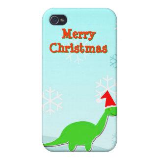Caso del iPhone 4 del dinosaurio verde de las Feli iPhone 4 Cobertura