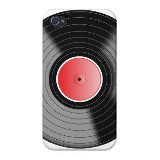 Caso del iPhone 4 del disco de vinilo del vintage iPhone 4 Fundas
