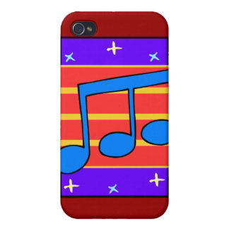 CASO del iPHONE 4 del DISEÑO de la NOTA MUSICAL iPhone 4 Funda
