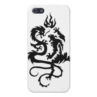 caso del iphone 4 del dragón-tigre iPhone 5 carcasas