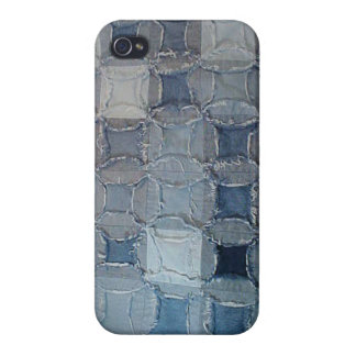 Caso del iPhone 4 del dril de algodón iPhone 4 Funda