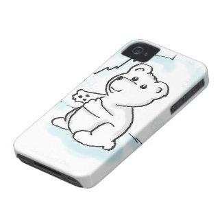 Caso del iPhone 4 del ejemplo de Cub del oso polar iPhone 4 Case-Mate Carcasas