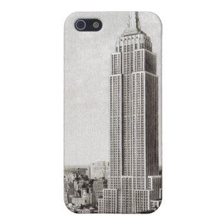 Caso del iphone 4 del Empire State Building de Nue iPhone 5 Carcasas