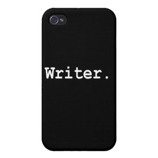 Caso del iPhone 4 del escritor iPhone 4 Funda