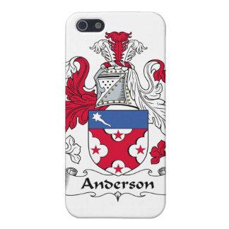 Caso del iPhone 4 del escudo de la familia de Ande iPhone 5 Carcasa