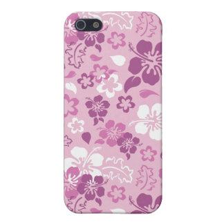Caso del iPhone 4 del estampado de plores del hibi iPhone 5 Protector