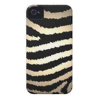 Caso del iPhone 4 del estampado de zebra del oro iPhone 4 Funda